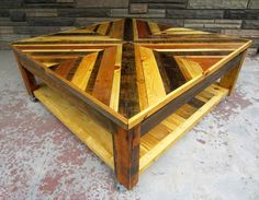 Chevron Pallet Coffee Table made of wood pallet kitchen island designs - see more wood pallet