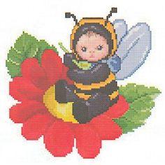 Bumblebee Cross Stitch Pattern