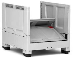 The maximum volume of the collapsible bulk containers saves time and money in transport, handling and storing.    Volume-optimized sides  space-saving when empty  low empty weight  easy to clean    Price : £199.50  	  Weight : 0.00 kg