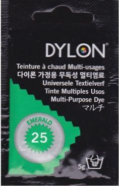 Teinture multi-usages Dylon VERT EMERAUDE N°25 (=capsule)