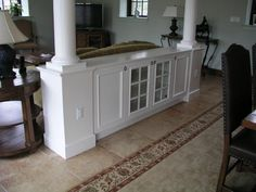 Custom Made Room Divider With Columns