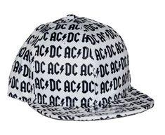 AC DC All Over Logo Flat Bill Snapback Hat  fashion  clothing  shoes de15e0363013