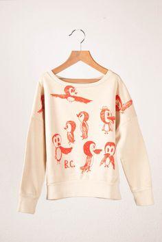 Cute bird drawing Sweatshirt