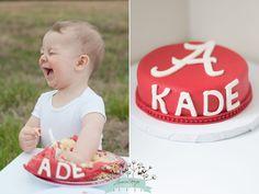 | Alabama Child Photographer | Alabama football. Alabama Smash Cake. First birthday. #JessicaMageeStudios