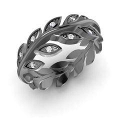 Carine Ring with Round SI Diamond | 0.08 carat Round SI Diamond   Wedding  in 14K Black Gold | Diamondere