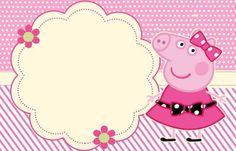 Miss Peppa Pig - Mini Kit Festa Infantil! Invitacion Peppa Pig, Cumple Peppa Pig, Peppa Pig Imagenes, Peppa Pig Birthday Invitations, Peppa Pig Printables, Aniversario Peppa Pig, Pig Party, Party Decoration, Printable Invitations