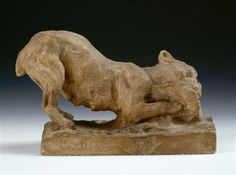 Camille Claudel, Dog gnawing a bone, date unknown, Plaster, Museum of Art and Industry, Roubaix, France