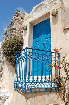 <3 blue iron balcony