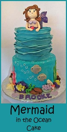 Mermaid Ruffle Cake - making a little girls dream cake!