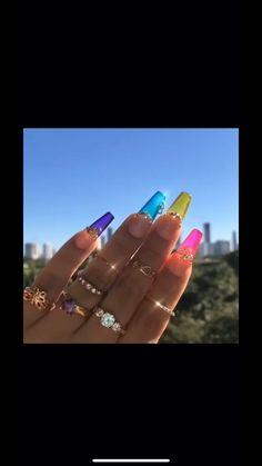 Fabulous Nails, Gorgeous Nails, Pretty Nails, Fancy Nails, Bling Nails, Jelly Nails, Fire Nails, Cute Acrylic Nails, Matte Nails