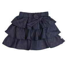 Ruffle Butts denim bow skirt