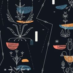 Midcentury Modern Fabric, Wallpaper and Home Decor | Spoonflower Trailer Interior, Modern Fabric, Fabric Wallpaper, Home Decor Items, Midcentury Modern, Spoonflower, Mid Century, Pattern, Design
