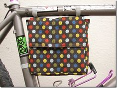 Bike lunch bag = free sewing pattern