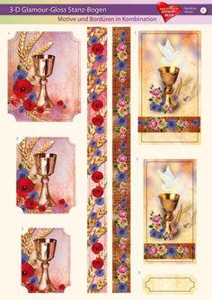 3-D GlamourGloss Bogen, kirchliche Motive, Din A4, Motiv 9