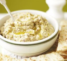 Red onion and indian spiced hummus