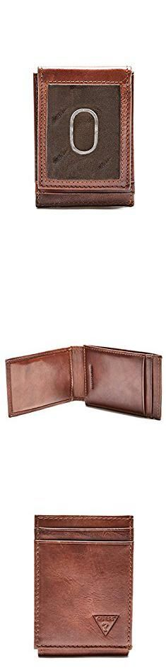 Guess Men's Naples Slim Front-Pocket Wallet, Tan, One Size. Slim Front Pocket Wallet, Guess Purses, Women's Handbags, Naples, Card Holder, Beige, Gold, Stuff To Buy, Hand Bags