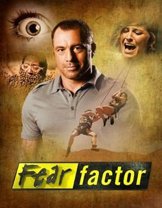 This image presents the TV show Fear Factor and the stunts people are expected to perform within this show.   www.fanpop.com