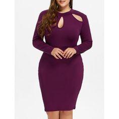 Cut Out Plus Size Bodycon Dress