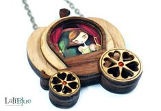 EPBOT: These Layered Wood & Paper Pendants Are Tiny Wearable Shadowboxes!