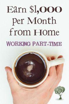 Part-Time Work at Home Jobs Ways to make money, make extra money, make more money