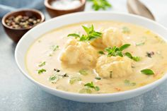 A creamy Slow Cooker Chicken and Dumplings recipe made without creamed soup and with easy to make, homemade dumplings. The perfect comfort meal! Creamy Chicken And Dumplings, Homemade Dumplings, Dumplings For Soup, Dumpling Recipe, Creamy Soup Recipes, Chicken Soup Recipes, Crockpot Recipes, Slow Cooker Soup, Slow Cooker Chicken