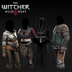 The Witcher III - NPC's outfits, Marcin Blaszczak on ArtStation at… Character Modeling, Game Character, Character Concept, 3d Modeling, The Witcher Wild Hunt, The Witcher 3, Armor Clothing, Game Concept Art, Medieval Armor