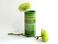 Rosenthal Netter Italian vase green yellow by agardenofdreams