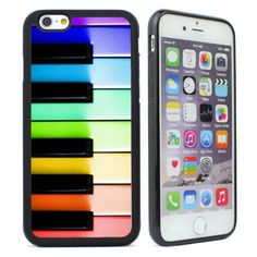 Piano-Keys-Music-Rainbow-Pink-Colored-Case-for-iPhone-4-4s-5-5s-5c-SE-6-6s-Plus