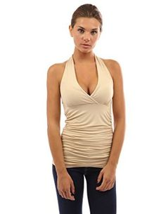 PattyBoutik Women's Halter Ruched Sides Top from $41.99 by Amazon BESTSELLERS