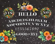 Floral Spirit Board  Print by AFancifulTwist on Etsy, $20.00