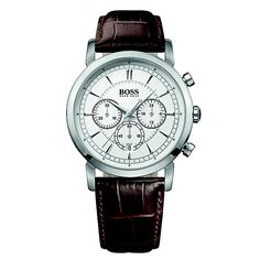 Stylish Hugo Boss Watches Brown Leather Strap