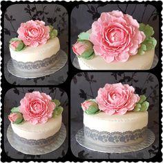 Peony Rose cake by Gaabykuh
