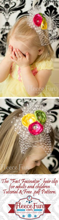#fascinator You can make a fun fast fascinator with this free pdf pattern and tutorial.  Great for wedding and pictures.  Easy DIY.