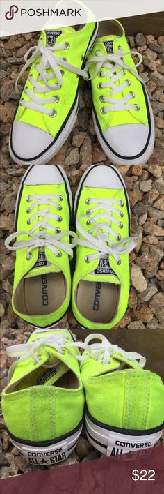 ☘️CONVERSE Sneakers ☘️ ☘️Converse All Star Sneakers.. Neon green .. Women's size 7☘️Very nice condition Converse Shoes Sneakers