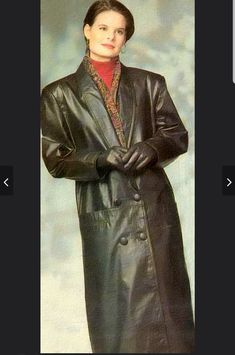 Long Leather Coat, Black Leather, Leather Jacket, Long Black, Vintage Leather, Woman, Jackets, Fashion, Leather
