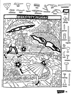 Hidden Picture Games, Hidden Picture Puzzles, Hidden Objects, Find Objects, Cool Coloring Pages, Coloring Books, Find The Difference Pictures, Hidden Pictures Printables, Hidden Images