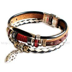jewelry bangle leather bracelet fashion by jewelrybraceletcuff, $8.00