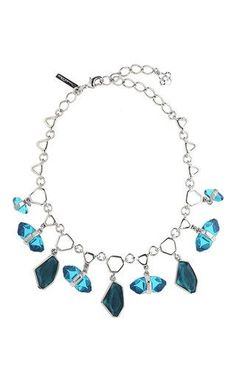 Geometric face stone necklace by OSCAR DE LA RENTA for Preorder on Moda Operandi