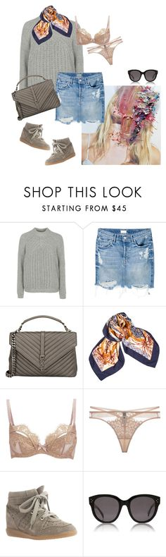 """""""Summer is just around the corner"""" by carodalsgaard ❤ liked on Polyvore featuring Topshop, Mother, Yves Saint Laurent, Hermès, L'Agent By Agent Provocateur, Dita Von Teese, Isabel Marant and CÉLINE"""