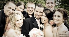 Love this close up for a bridesmaids & ushers group shot