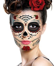5810d45013ccc 43 Best Day Of The Dead Temporary Tattoos images in 2017 | Death ...