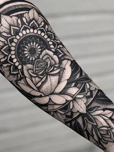 mandala rose tattoos ~ mandala rose tattoos - mandala rose tattoos sleeve - mandala rose tattoos thigh - mandala rose tattoos ribs - rose mandala tattoos for women - rose and mandala tattoos - wrist tattoos mandala rose - rose tattoos with mandala Mandala Tattoo Sleeve, Geometric Sleeve Tattoo, Sleeve Tattoos, Geometric Tattoos, Floral Thigh Tattoos, Pink Rose Tattoos, Flower Tattoos, Floral Tattoo Design, Mandala Tattoo Design