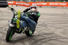 Stunt rider Lee Bowers takes a rest from his hectic schedule at K World Live stunt show