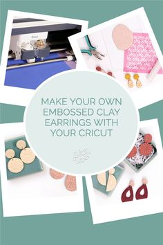 Learn how to add beautiful texture to your clay projects using your Silhouette or Cricut machine! Polymer Clay Crafts, Polymer Clay Jewelry, Clay Earrings, How To Make Stencils, Cute Cuts, Silhouette Cameo Projects, Vinyl Crafts, Beautiful Textures, Air Dry Clay