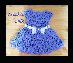Crochet robe pour bébé كروشيه فستان اطفال