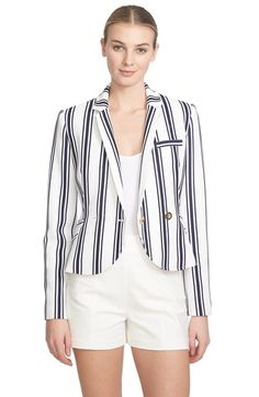 1.STATE Shrunken Stripe Blazer available at #Nordstrom