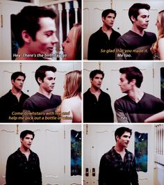 I was sorta jealous but i laughed haha Movies Showing, Movies And Tv Shows, Teenage Werewolf, Teen Wolf Funny, Howl At The Moon, Teen Wolf Cast, Scott Mccall, Sterek, Dylan O'brien
