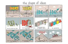 Words and Pictures by Grant Snider http://www.incidentalcomics.com/2014/08/the shape of ideas.html in Illustration & Painting