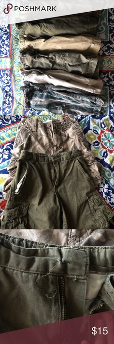 Boy shorts 6 pair shorts lot from 7-8 one is missing a button Bottoms Shorts