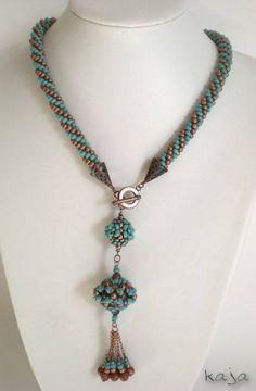 No automatic alt text available. Seed Bead Necklace, Rope Necklace, Beaded Necklace, Beaded Bracelets, Necklaces, Bead Jewellery, Beaded Jewelry, Handmade Jewelry, Crochet Jewellery